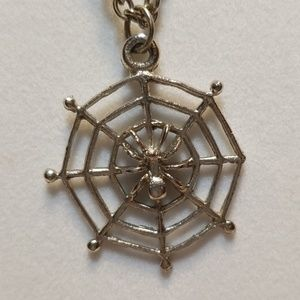 Jewelry - Spider in web silver necklace